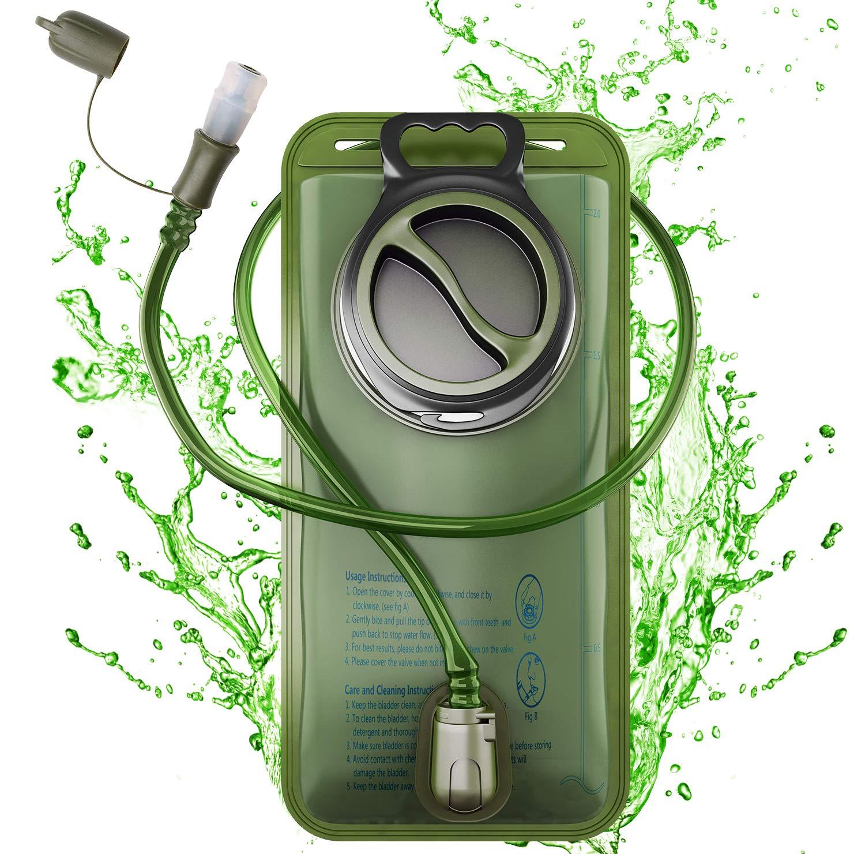 Amandir Trinkblase, 2 Liter, auslaufsicher, Wasserspeicher, Trinkblase, Ersatz für Radfahren, Wandern, Klettern, Radfahren, Laufen