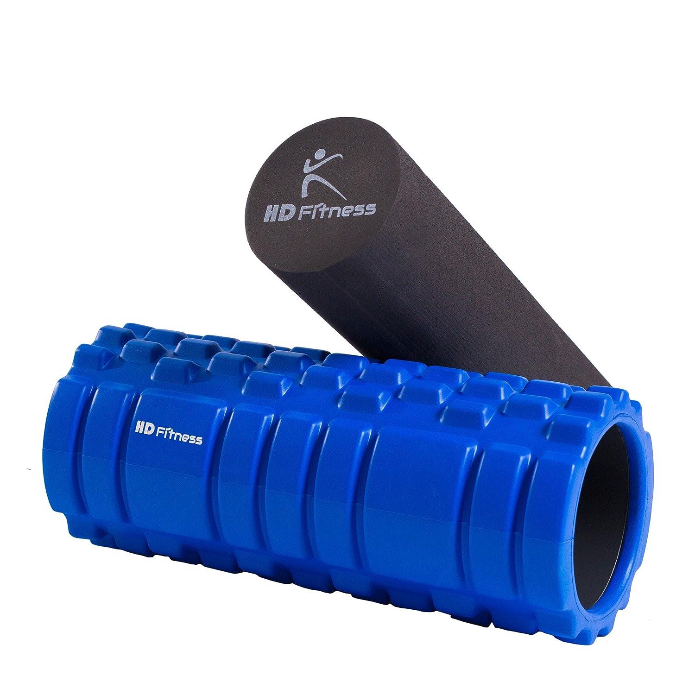 Mousse EVA, HD Fitness Rouleau de Yoga 2 en 1 Rouleau de Massage de Noyau Creux