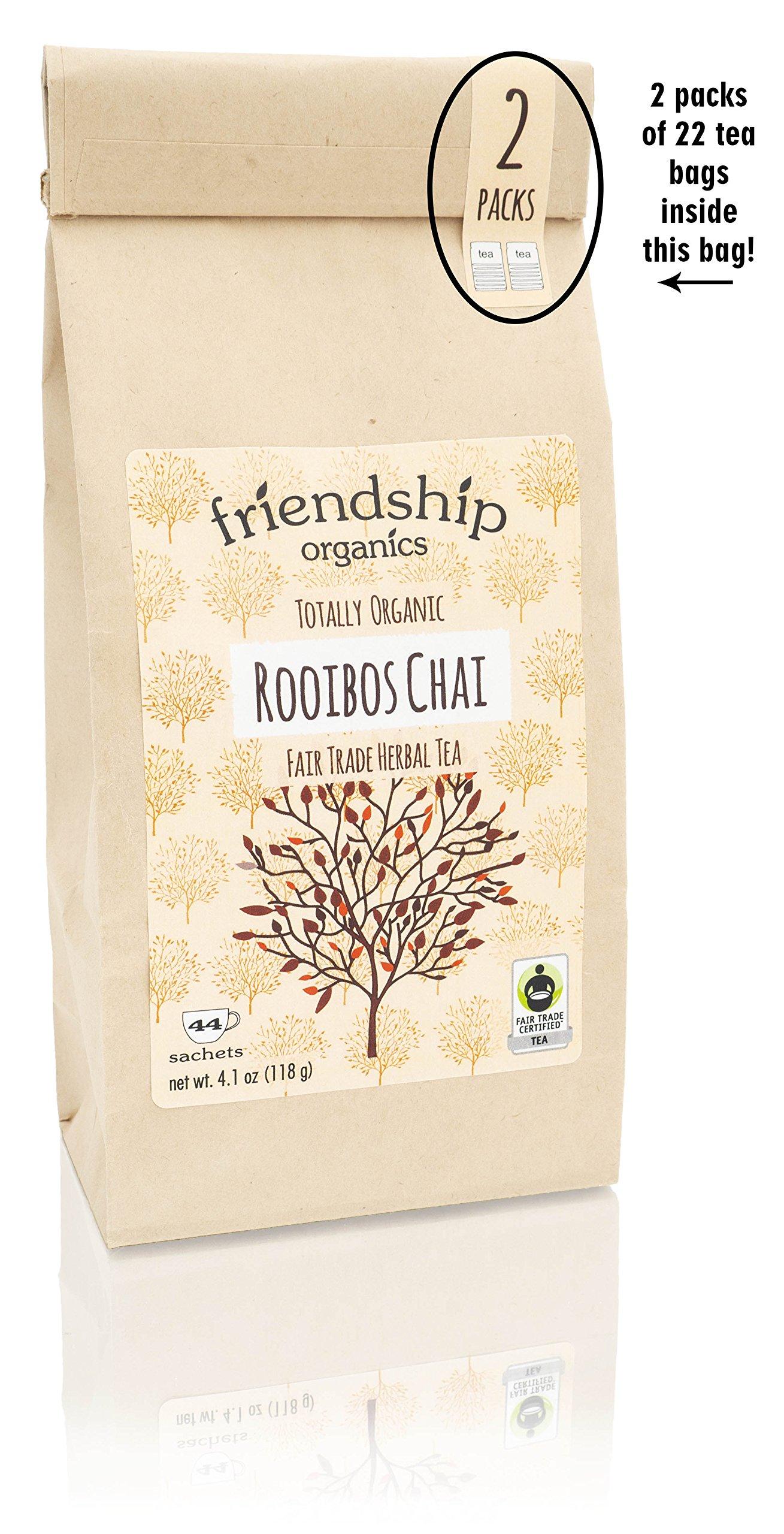 Organic Rooibos Chai, Fair Trade Certified Herbal Tea - Tagless teabags (44 count)