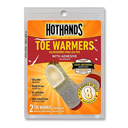 HotHands Toe Warmers - Long Lasting Safe Natural Odorless Air Activated Warmers - Up to 8 Hours of Heat - 10 Pair