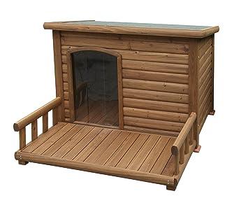Kerbl Casita de perro con terraza, 113 x 81 x 83 cm: Amazon.es: Productos para mascotas