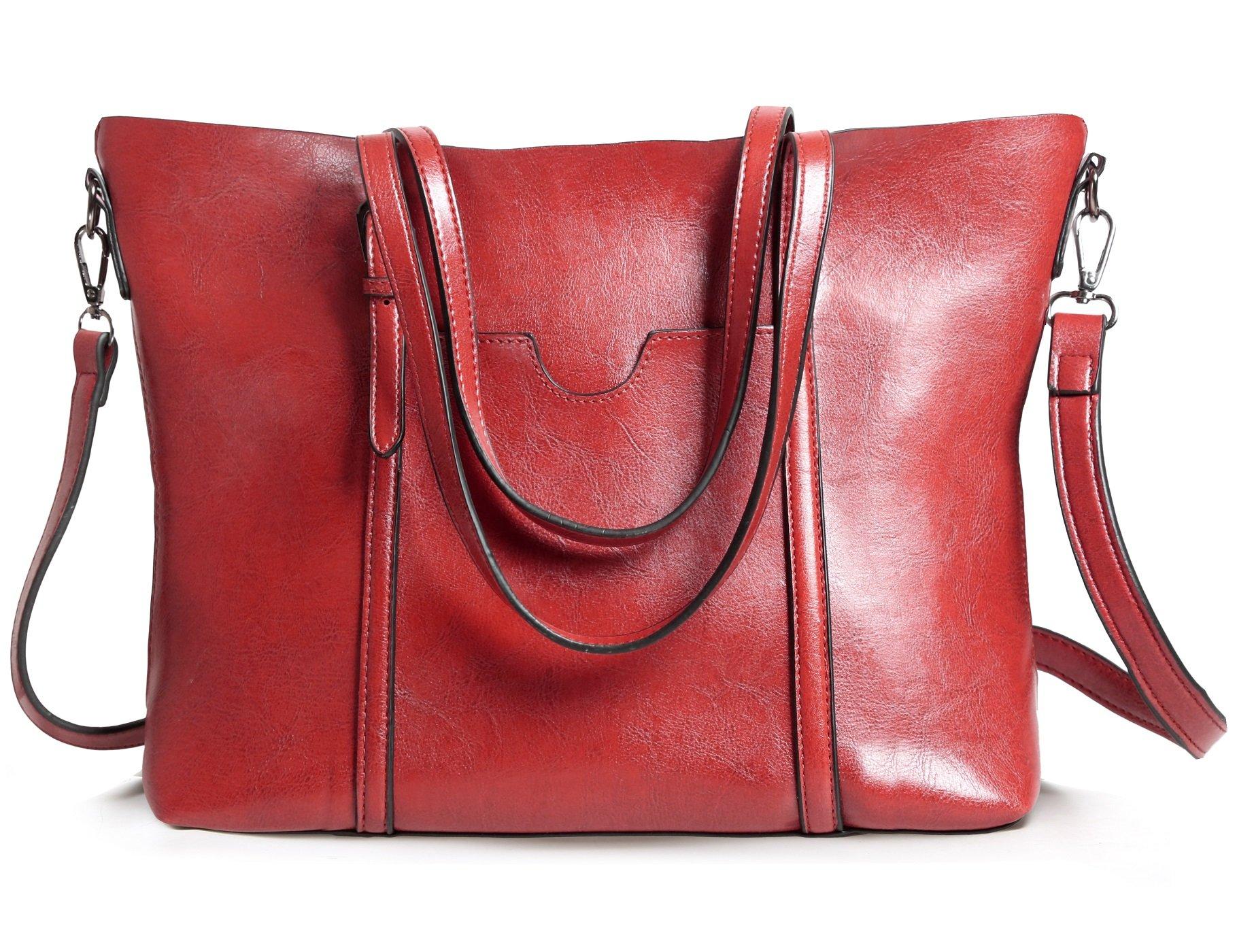 Womens Tote Bag Leather Handbag Top Handle Satchel Shoulder Bags Ladies Purse