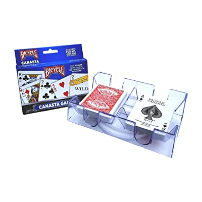 Canasta Games Playing Cards With 2 Deck Rotating Card Tray Holder Set: Toys & Games [5Bkhe1404068]