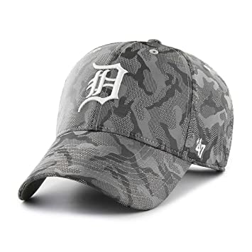 new concept 0919f 74aec  47 Brand Detroit Tigers Smokelin MVP Adjustable MLB Cap