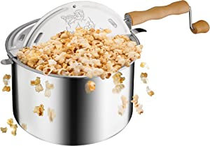 6250 Great Northern Popcorn Original Spinner Stovetop 6 1/2 Quart Popcorn Popper - Theater Popcorn at Home!