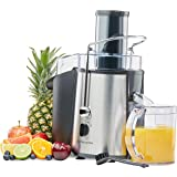 Andrew James 850 watt Electric Whole Fruit Juicer with juice collecting jug and cleaning brush
