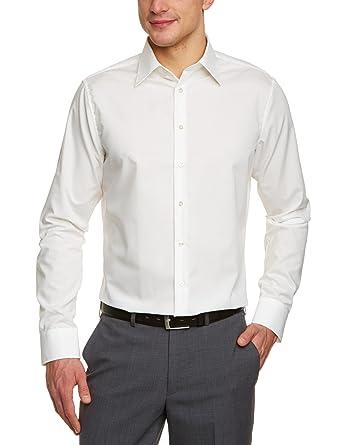 1cc7b63df95a Seidensticker Herren Business Hemd Tailored Langarm Kent-Kragen Bügelfrei,  Beige (Ecru 21)