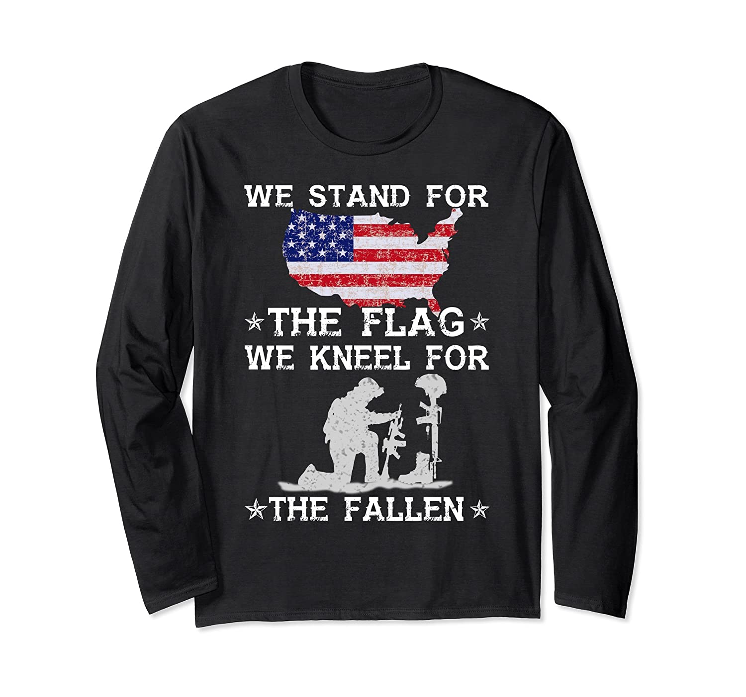 We stand for the flag We kneel for the fallen T Shirt-fa
