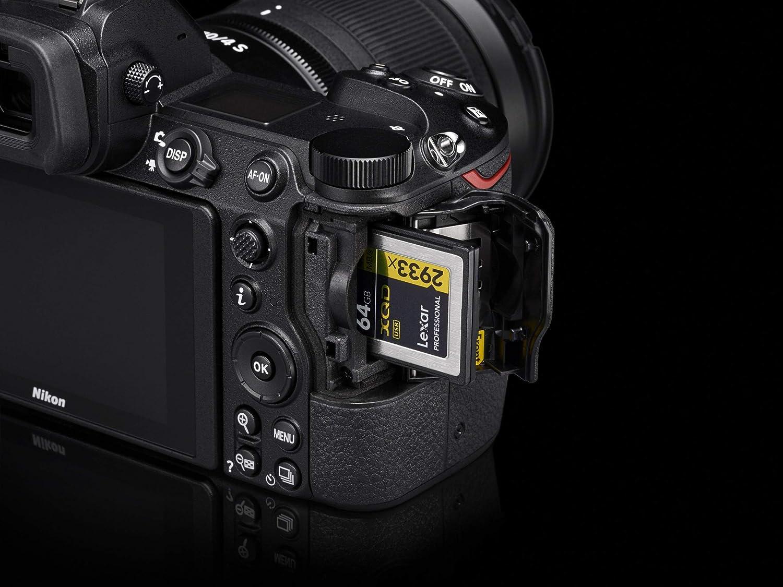 Up to 440MB//s Read /& 400MB//s Writing Nikon VWC00101 XQD 64GB Professional Memory Card