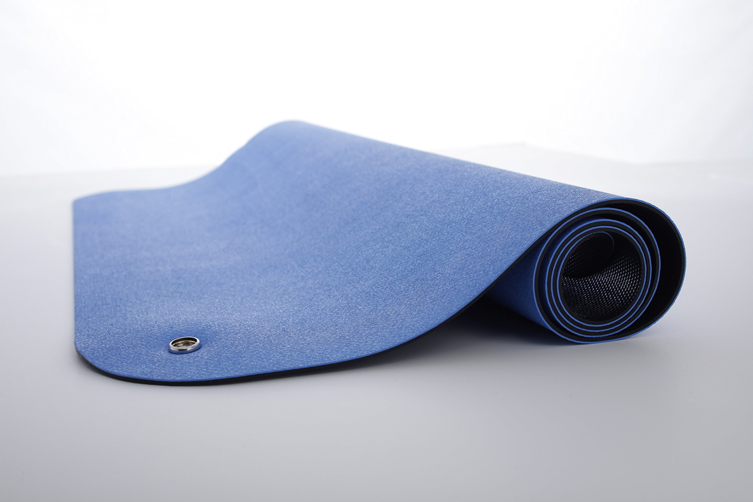 Guardian ESDMATBLUESL2X3 Electro Guard ESD Mat, Single Layer, Dissipates Static INHERENTLY from Work Surfaces and Personnel Quickly and Safely, Rubber, 2' x 3', Blue by Guardian (Image #2)