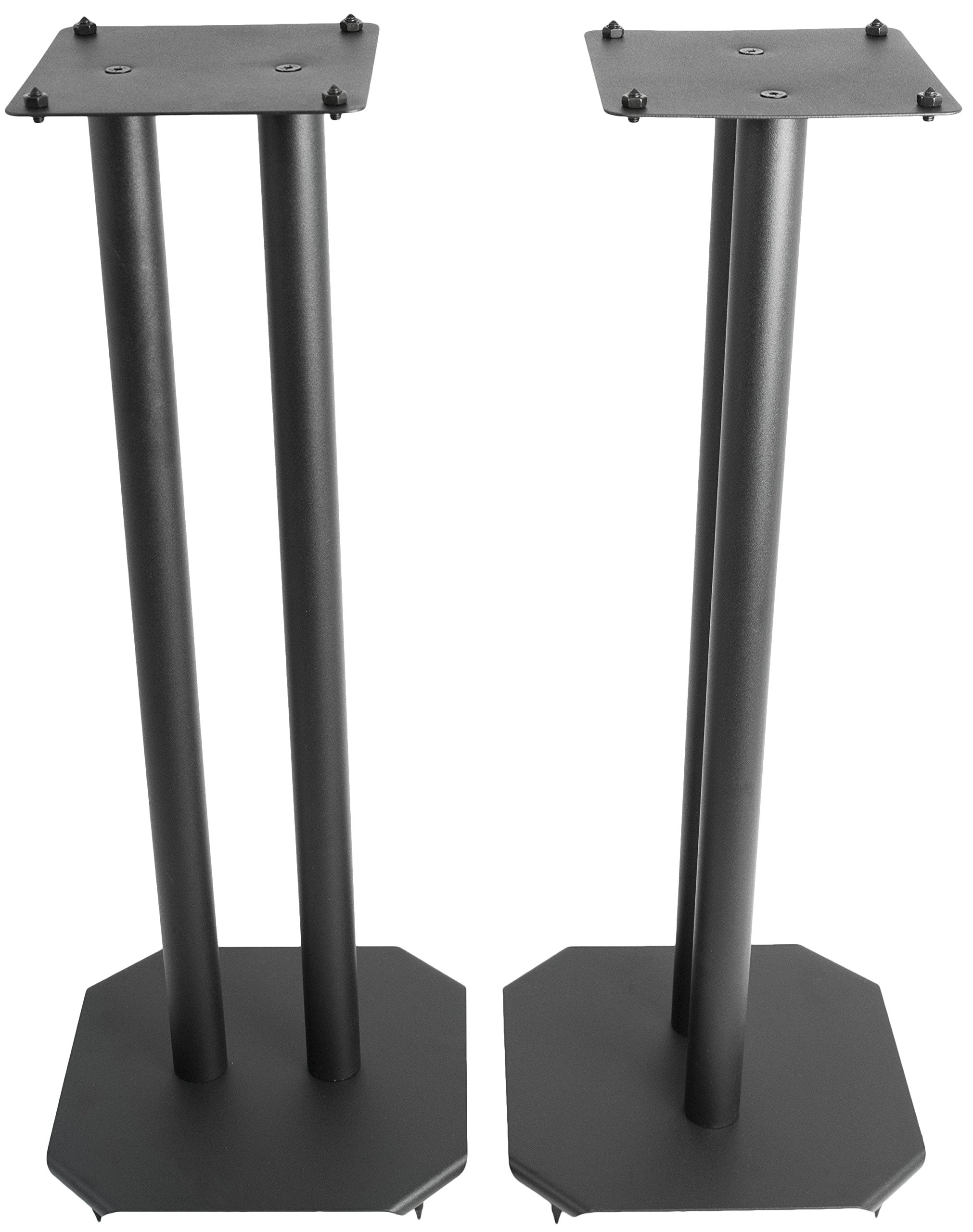 VIVO Premium Universal 25 inch Floor Speaker Stands for Surround Sound and Book Shelf Speakers (STAND-SP03B) by VIVO