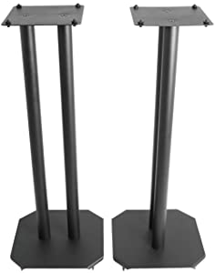 VIVO Premium Universal 25 inch Floor Speaker Stands for Surround Sound and Book Shelf Speakers (STAND-SP03B)