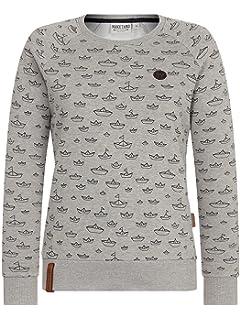 NAKETANO One On Da Side Sweatshirt für Damen Beige