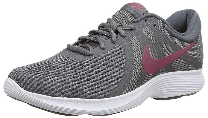 Nike Revolution 4 Herren dunkelgrau mit weinrotem Streifen (Gunsmoke/Vintage Wine/Dark Grey/White)