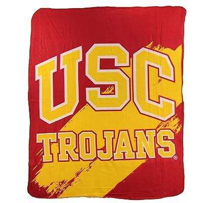 The Northwest Company NCAA Collegiate School Logo Fleece Blanket (Southern California Trojans): Clothing