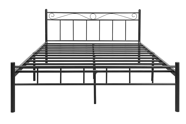 FurnitureKraft London Metal King Size Double Bed: Amazon.in: Home ...