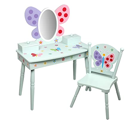 Olive Kids Butterfly Garden Vanity U0026 Chair Set