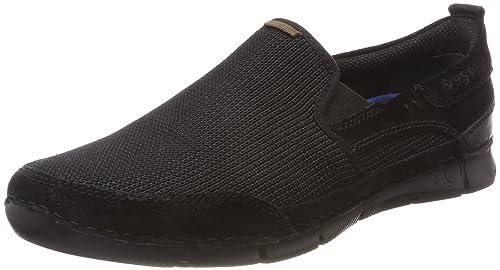 Bugatti 321467606914, Mocasines para Hombre, Negro (Black/Black), 41 EU