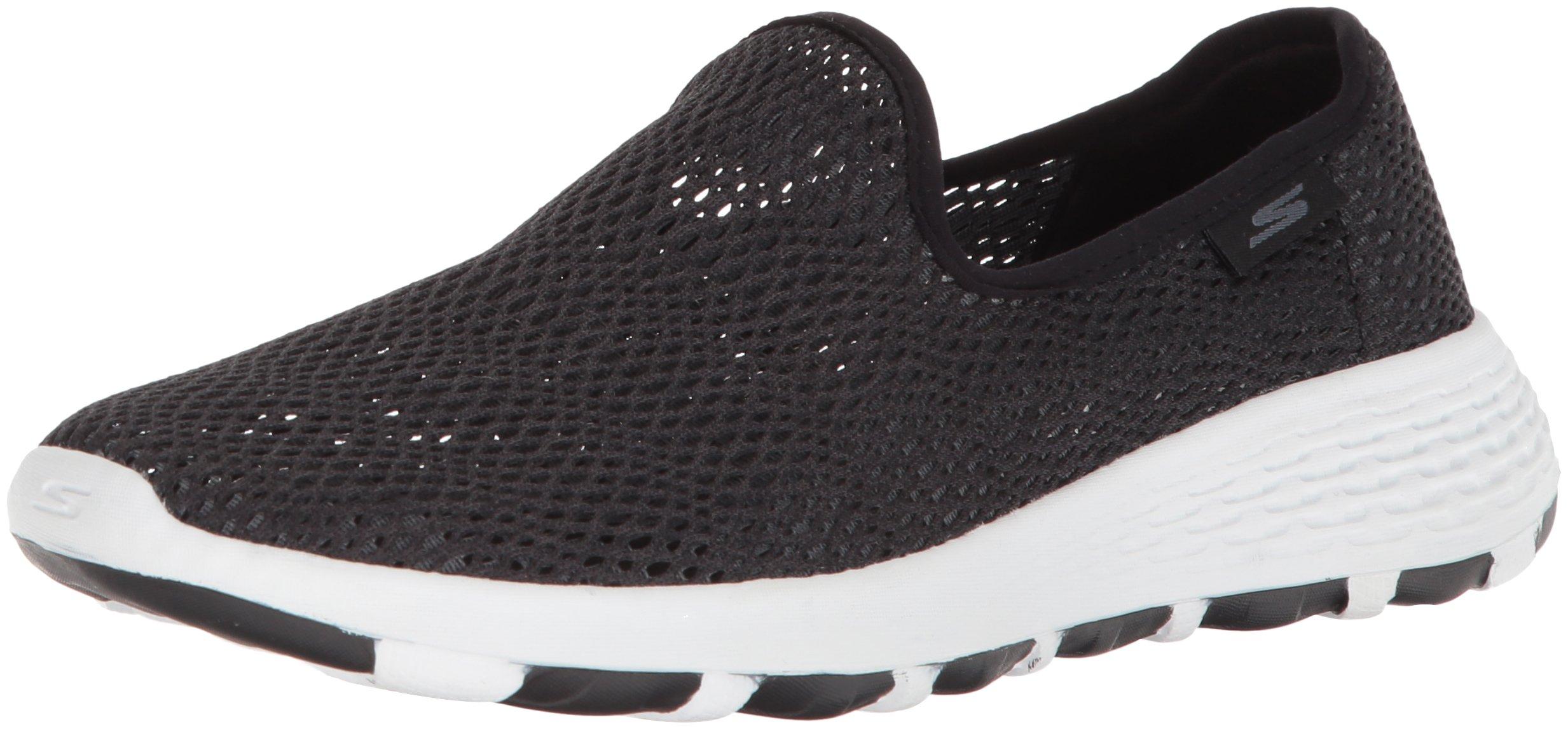Skechers Performance Women's Go Walk Cool-15650 Sneaker,Black/White,8.5 M US
