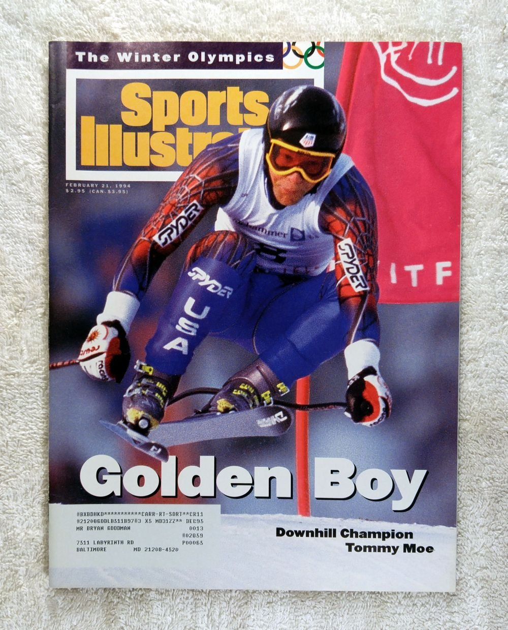 4c4a0c9281ef Tommy Moe - Downhill Skiing Gold Medal Winner - XVII Winter Olympics - Sports  Illustrated - February 21