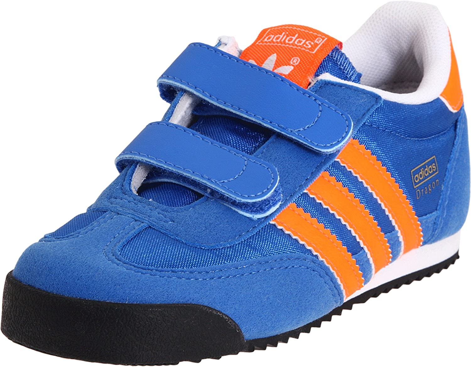 Desaparecido Campo de minas Tranquilizar  Amazon.com | adidas Originals Dragon Nylon Comfort Retro Sneaker  (Infant/Toddler) (Infant/Toddler), Air Force Blue/Warning/White, 7.5 M US  Toddler | Sneakers