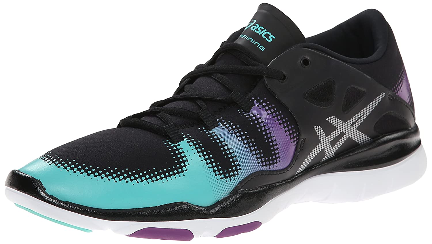 ASICS Women's GEL Fit Vida Fitness Shoe B00Q2KVWBI 6 B(M) US|Black/Silver/Aqua Mint