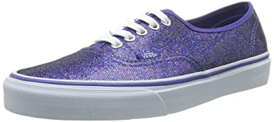 verkoop uk promotie beste authentiek Amazon.com | Vans Unisex Authentic (Glitter) Blue Skate ...