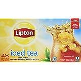 Lipton Family-Sized Black Iced Tea Bags, Unsweetened 48 ct