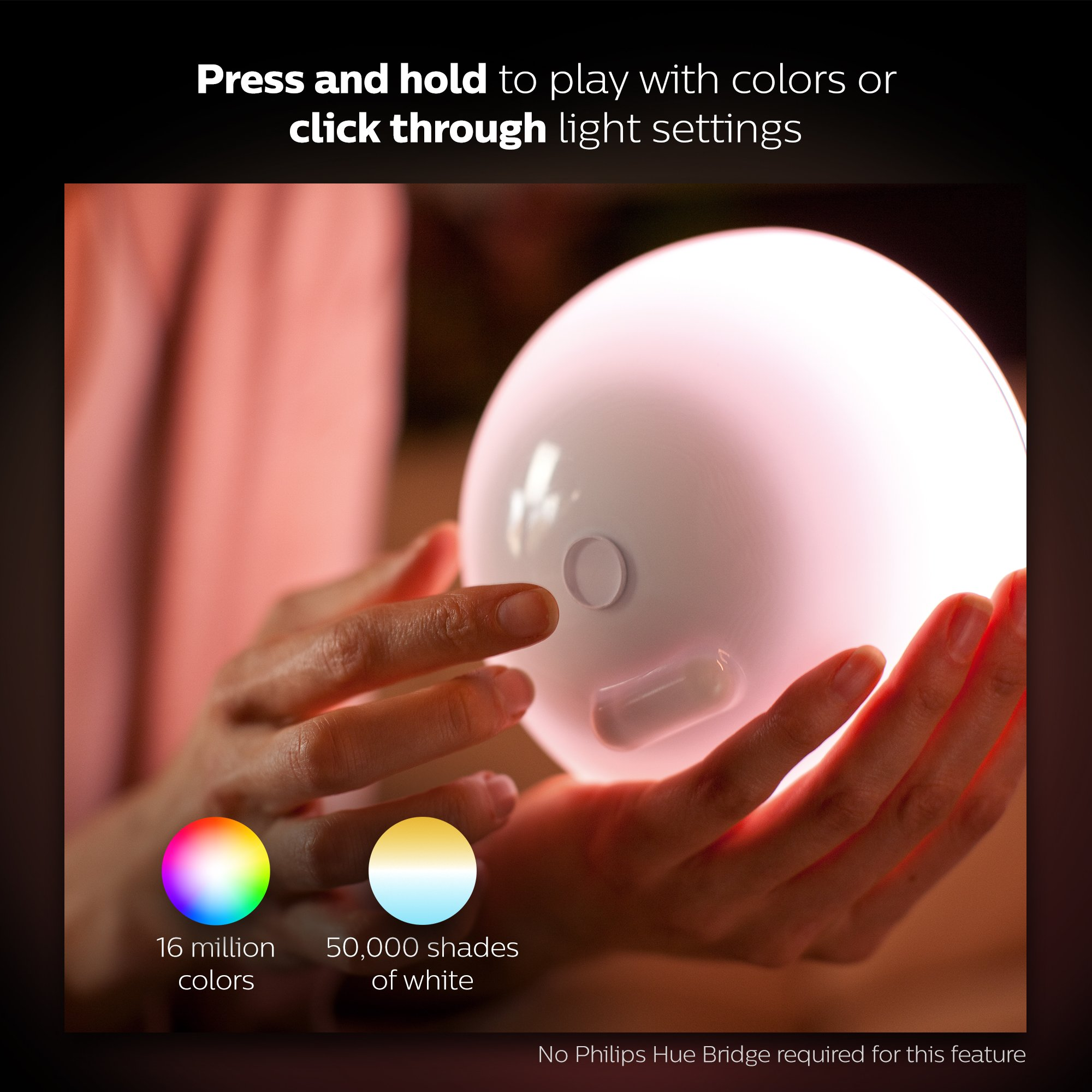 Philips Hue Go White and Color Portable Dimmable LED Smart Light Table Lamp (Requires Hue Hub, Works with Alexa, HomeKit and Google Assistant) by Philips Hue (Image #4)