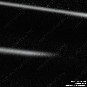 145b148f09c6 Amazon.com: Avery SW900-192-M GLOSS BLACK METALLIC 5ft x 10ft (50 Sq/ft)  Supreme Vinyl Car Wrap Film: Automotive