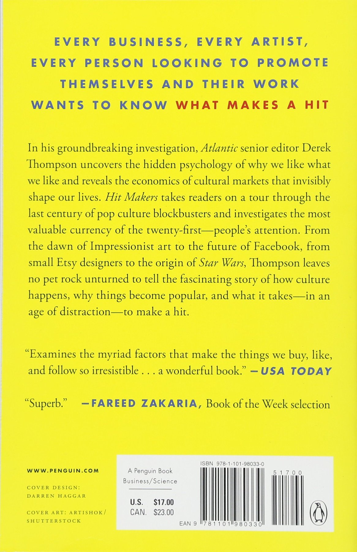 Amazon.com: Hit Makers: How to Succeed in an Age of Distraction  (9781101980330): Derek Thompson: Books