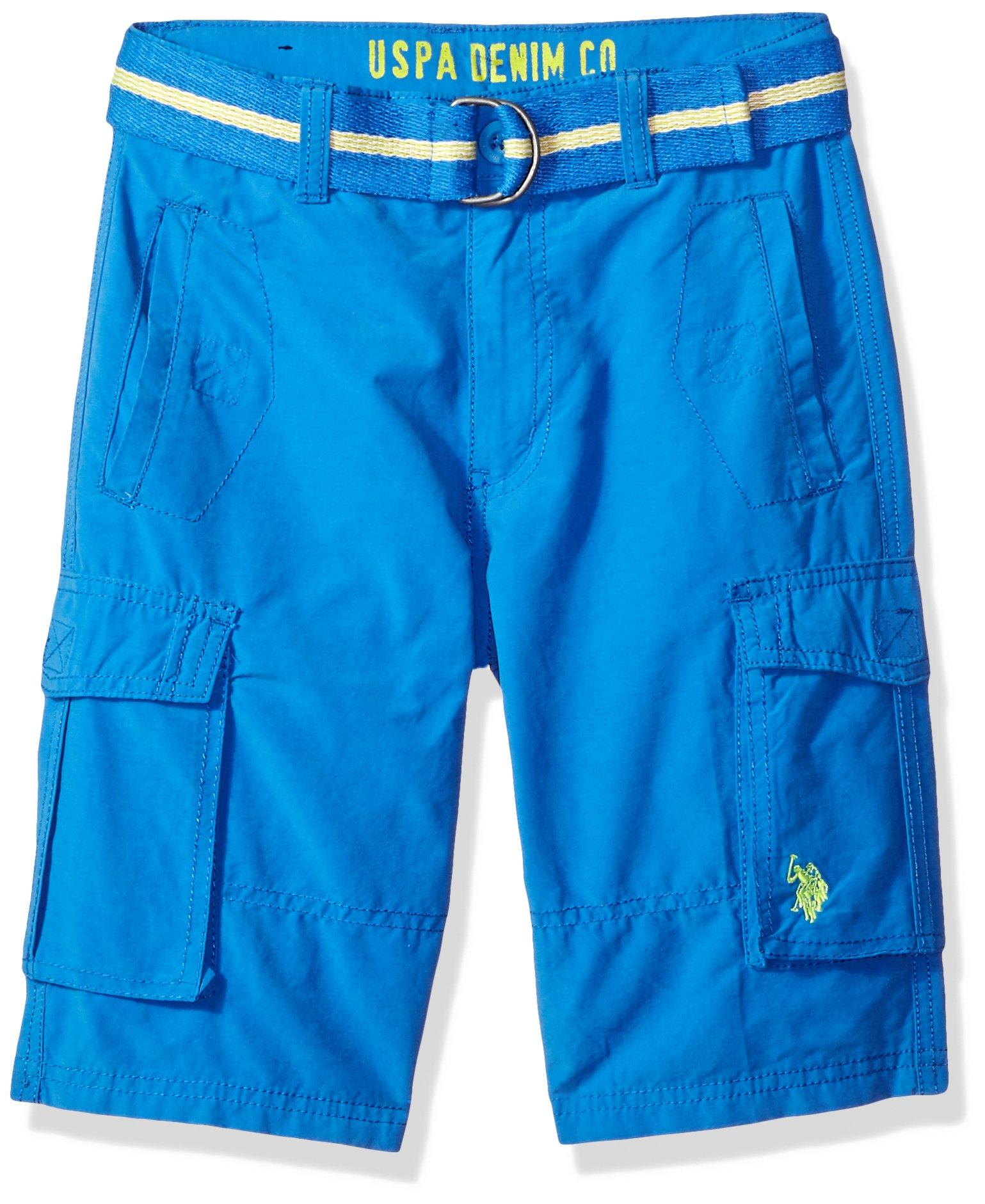 U.S. Polo Assn. Toddler Boys' Short, Belted Cargo Flight Blue, 3T