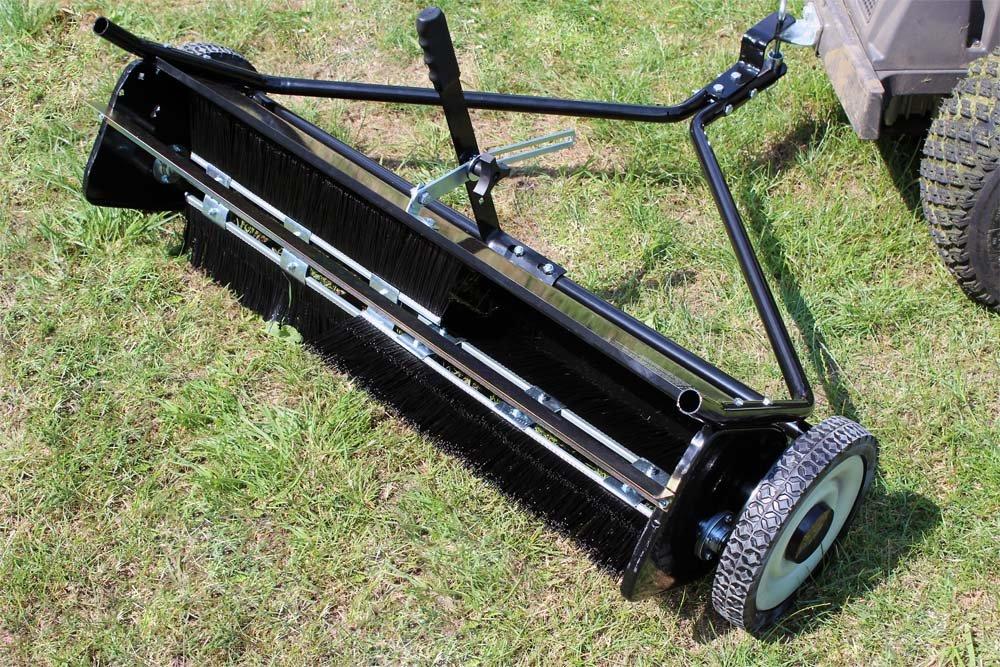 WilTec Barredora de césped 95 cm para segadora o Tractor ...