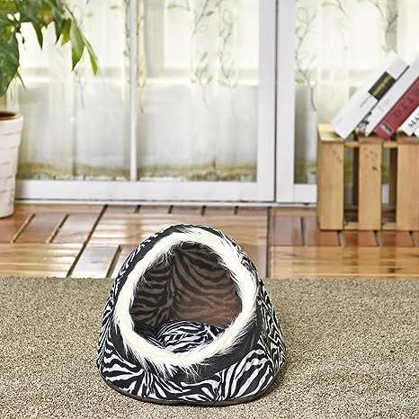 Pet supplies, para el gato, cama de cueva Casa de perro de lujo y