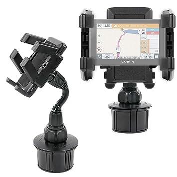 DURAGADGET Soporte Giratorio para Posavasos del Coche para GPS Garmin Drive 61 Full EU LMT-S / Garmin Camper 770 LMT-D- ¡Siempre A Mano!: