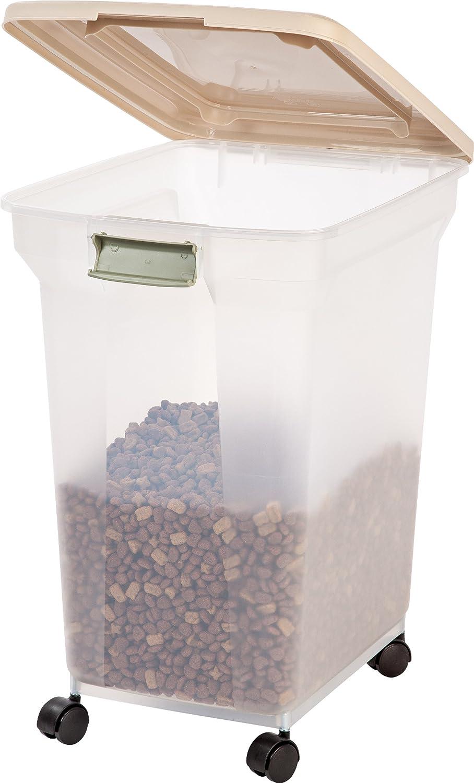Pet Supplies : IRIS Premium Airtight Pet Food Storage Container, 55 Pounds,  Almond : Pet Food Storage Products : Amazon.com