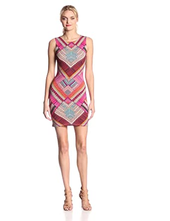 Mara Hoffman Women's Jersey Sleeveless Slit Back Mini Dress, Kasuri Pink, X-Small