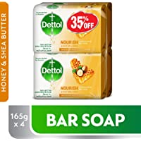 Dettol Nourish Anti-Bacterial Bar Soap 165g Pack Of 4 at 35% Off