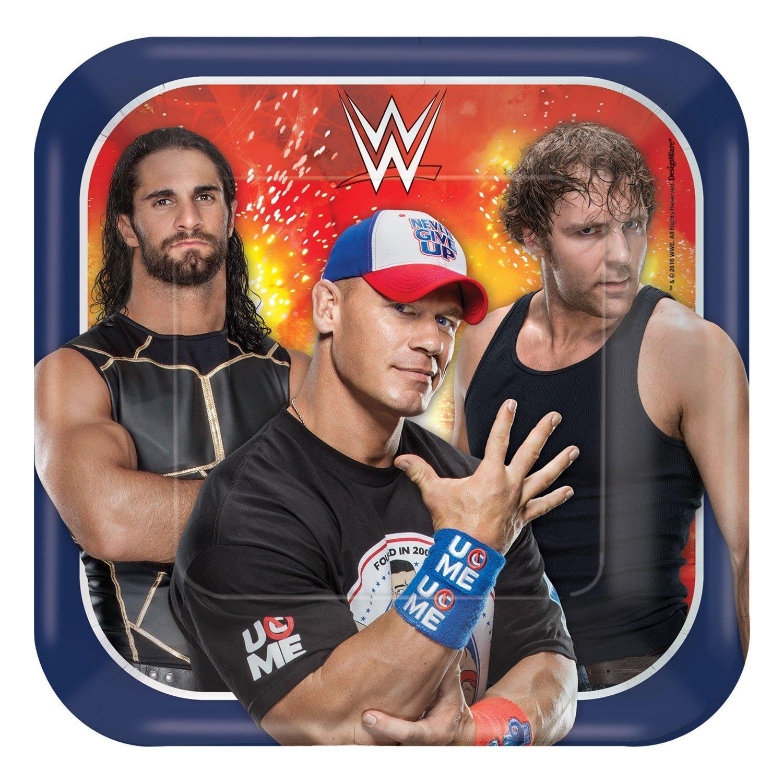 Grand Slammin' WWE Birthday Party Bundle 9'' Plates (16) 7'' Plates (16) Lunch Napkins (16)