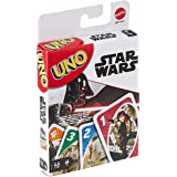 UNO Star Wars Matching Card Game Featuring 112 Cards with Unique Wild Card & Instructions for Players 7 Years Old & Up, Gift