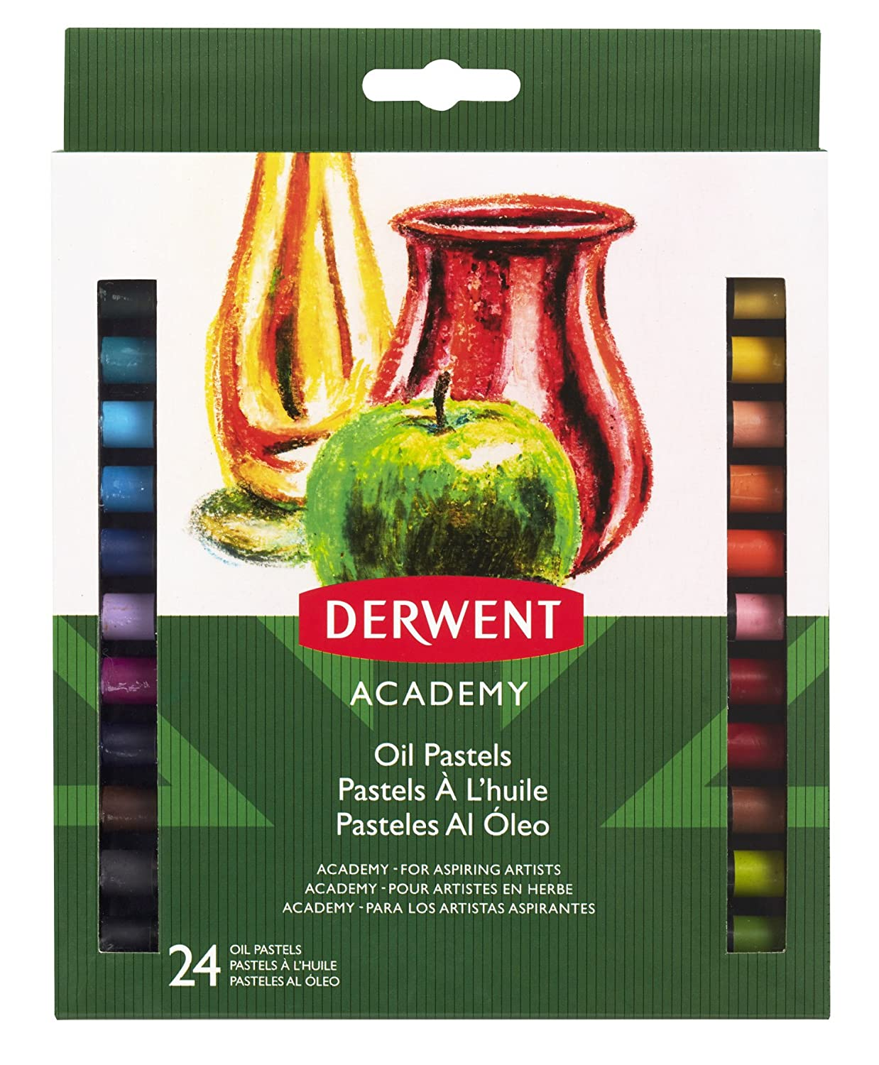 Derwent Academy Oil Pastels, Set of 24, High Quality, 2301953