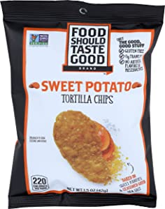 Food Should Taste Good, Tortilla Chips Sweet Potato, 1.5 Ounce