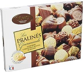 Cémoi boîte assortiment de chocolat pralinés gourmands 400 g, lot de 2