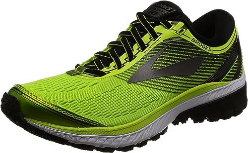Brooks Ghost 10, Zapatillas de Gimnasia para Hombre, Amarillo (Lime Popsicle/Black/Metallic Charcoal), 41 EU: Amazon.es: Zapatos y complementos