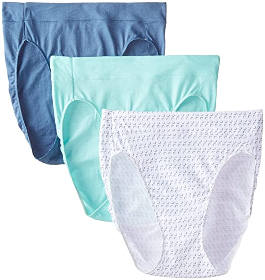 a1138e93efba Amazon.com: Hanes Women's Constant Comfort X-Temp Hi-Cut Panty (Pack of 3):  Clothing