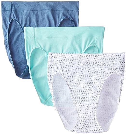 61f9a5466654 Amazon.com: Hanes Women's Constant Comfort X-Temp Hi-Cut Panty (Pack of 3):  Clothing
