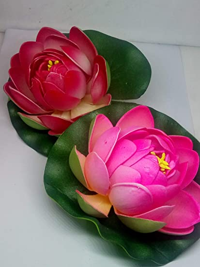 Buy Artificial Lotus Flower For Home Decor 02 Pcs Online At Low