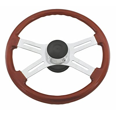 Woody's WP-SWIL Rosewood Chrome Truck Steering Wheel (Beautiful African Hardwood): Automotive