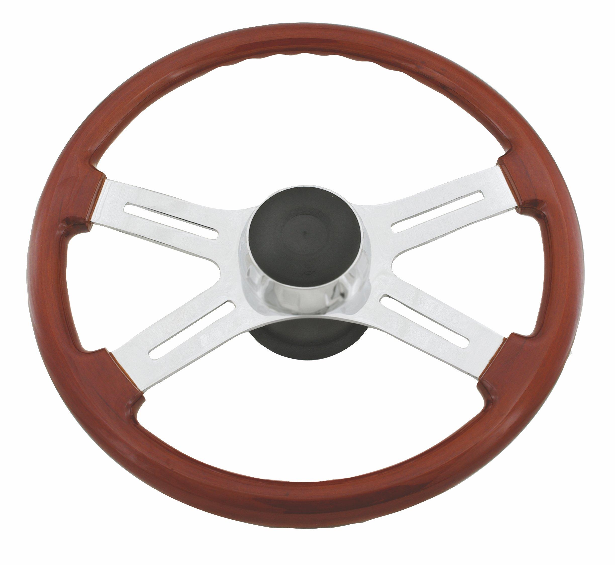 Woody's WP-SWKW Rosewood Chrome Truck Steering Wheel (Beautiful African Hardwood)
