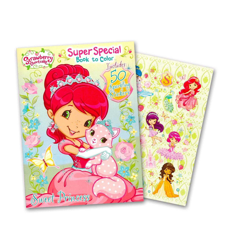 Amazon.com: Strawberry Shortcake Coloring Book Super Set -- 2 Jumbo ...